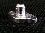 AN-10 JZ-GTE Turbo Oil Drain fitting, w/integrated silicone O-ring included
